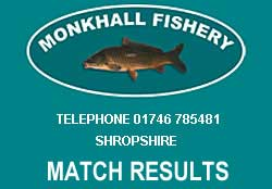 Monkhall Fisheries Match results